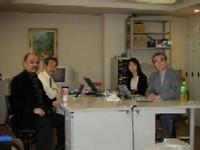 プレゼンチームのメンバー 左から僕、中村さん、小島さん、楠本さん